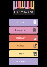 Site mobile Piano Barge